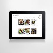 iPad food menu