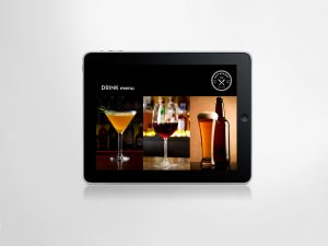 drink selections on an iPad app