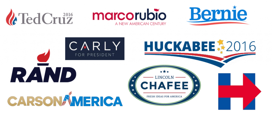 2016 Presidential Election Campaign Logos