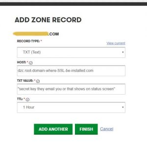 DZC-TXT-record-settings-for-SSL-Godaddy-Addon-domain-SANs