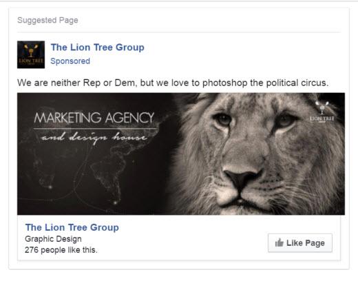 Facebook Promote Page Ad