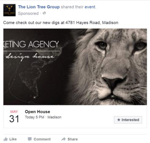 Facebook Raise Attendance At An Event Ad