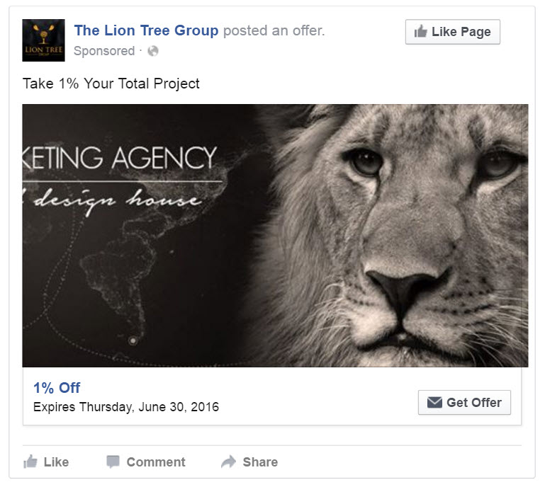 Facebook Get People To Claim Your Offer Ad