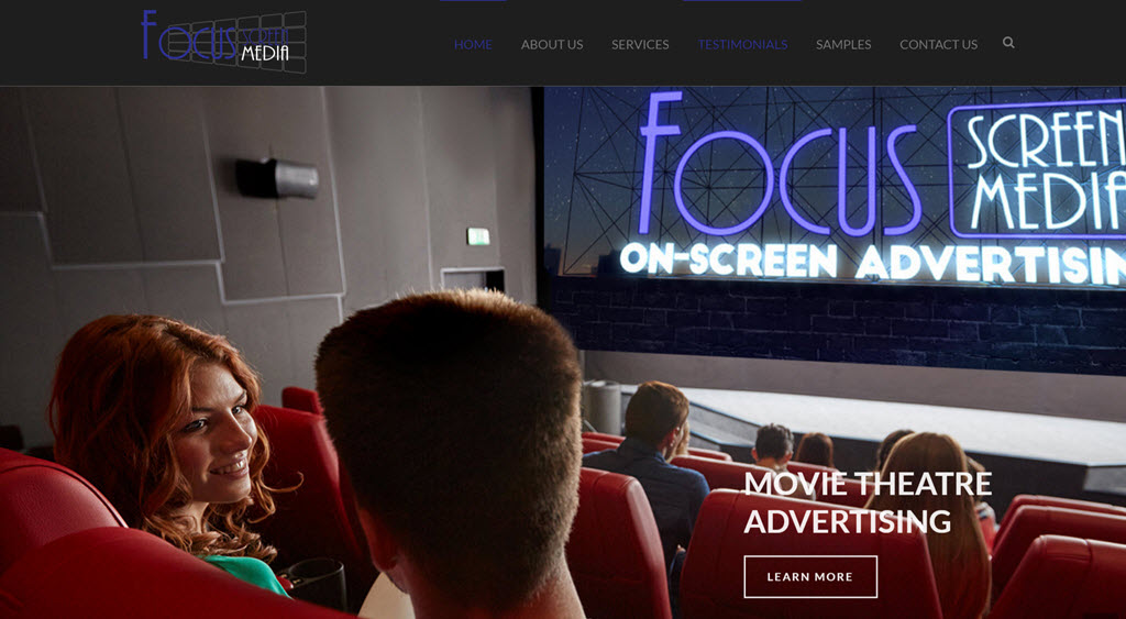 Focus Screen Home Page