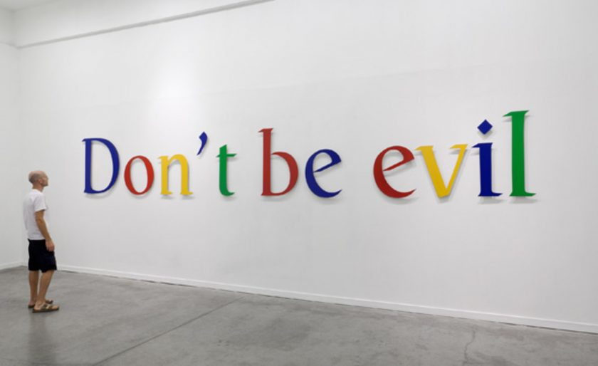 Google History Don't Be Evil