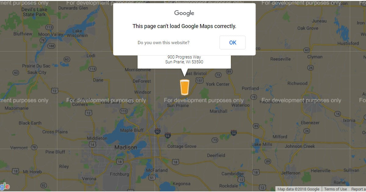 Fixing the This Page Can't Load Google Maps Correctly Error